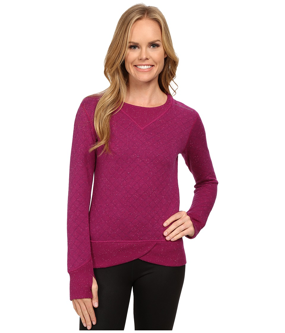 Brooks Fly-By Sweatshirt (Currant/Navy) Women