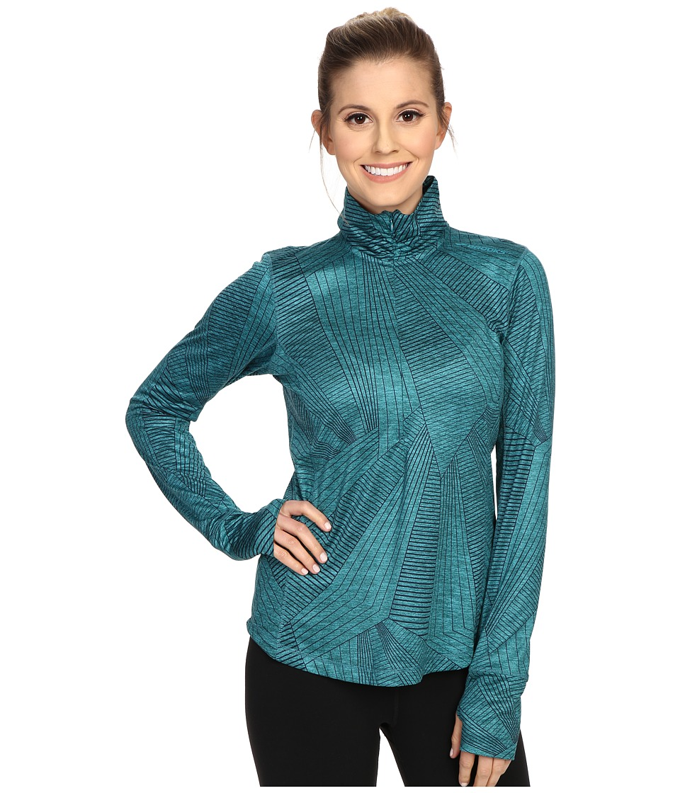 Brooks - Dash 1/2 Zip (Heather Kale Big Sunshine) Women's Long Sleeve Pullover