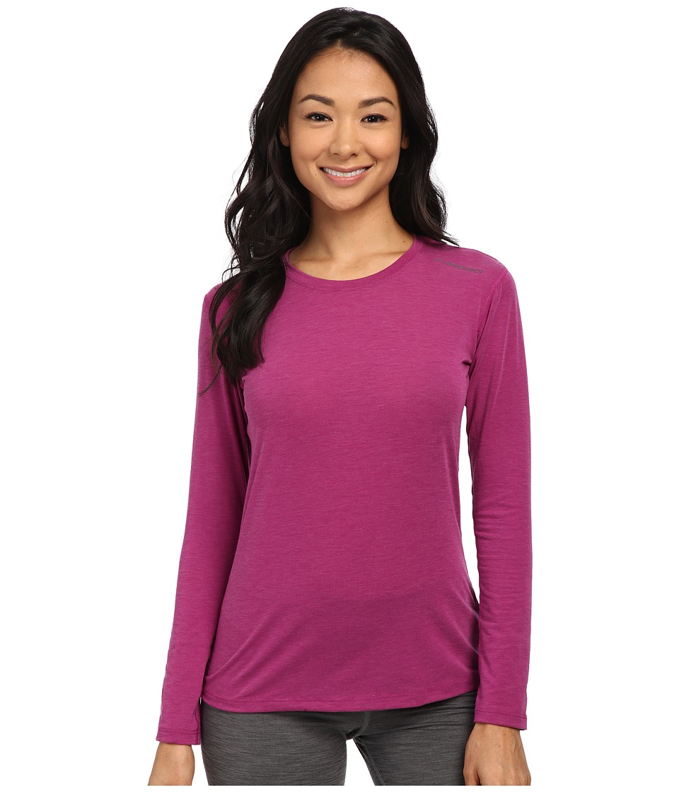 Brooks - Distance Long Sleeve Top (Heather Currant) Women