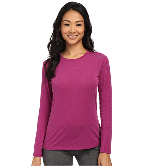 Brooks - Distance Long Sleeve Top (Heather Currant) Women's Long Sleeve Pullover