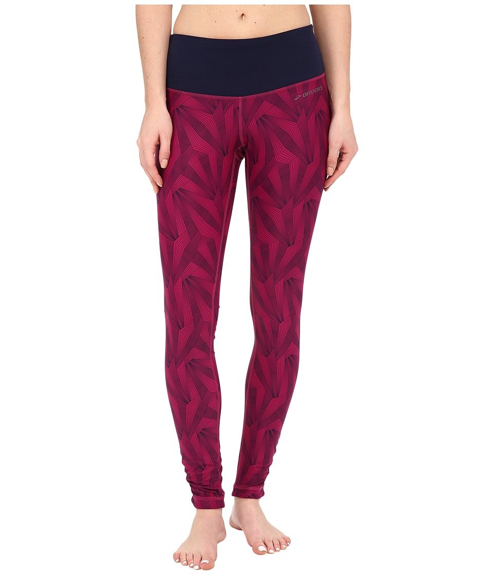 Brooks - Greenlight Tights SE (Currant Little Sunshine/Currant) Women's Casual Pants