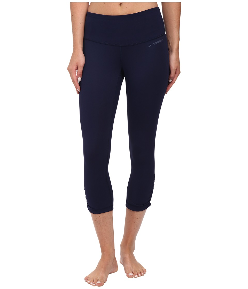 Brooks - Greenlight Capris (Navy/Navy) Women's Capri