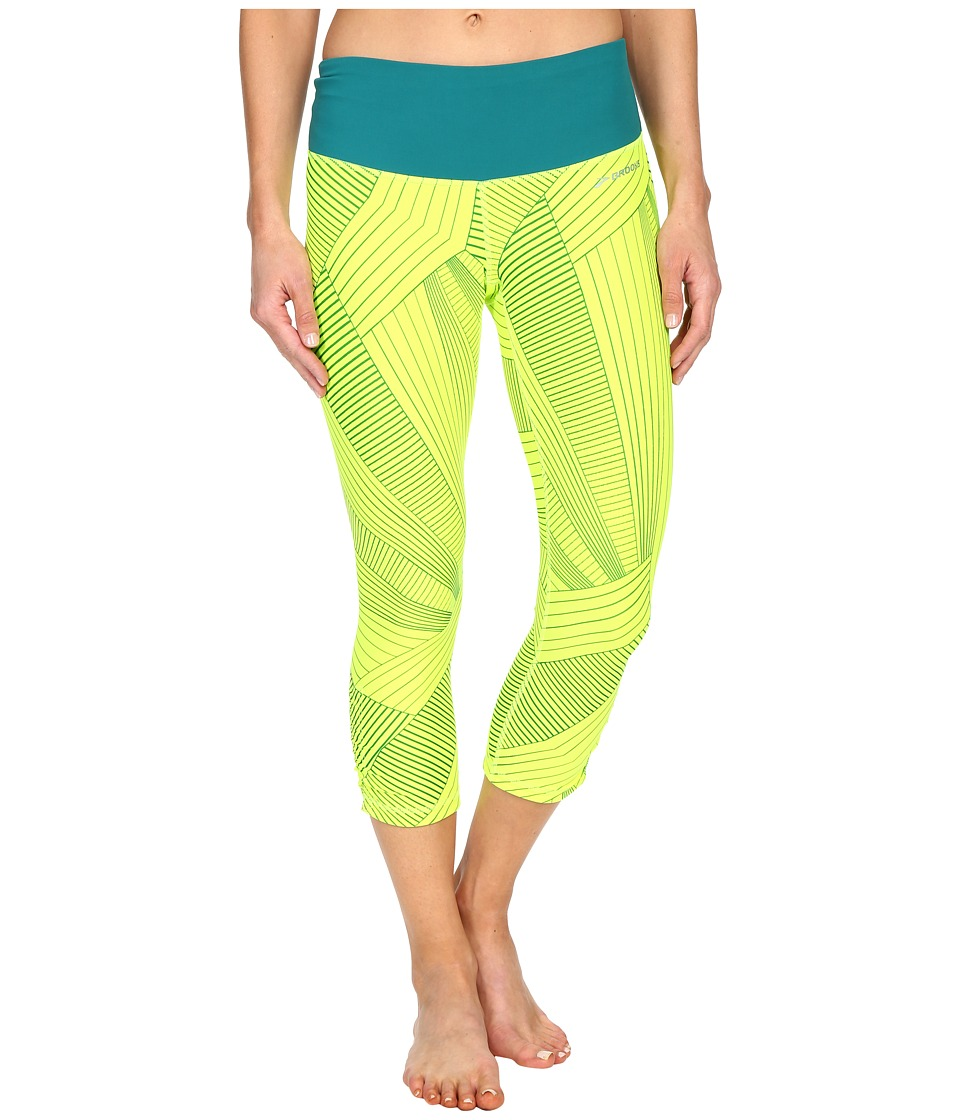 Brooks - Greenlight Capris SE (Nightlife Big Sunshine/Nightlife) Women's Capri