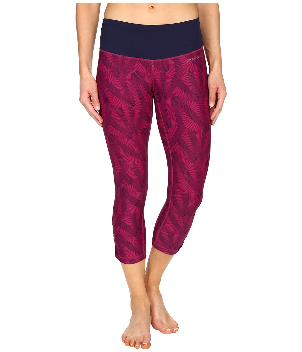Brooks Greenlight Capris SE (Currant Little Sunshine/Currant) Women