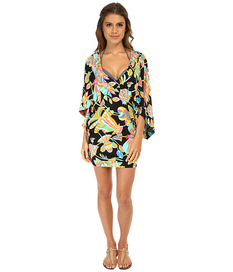 Trina Turk - Tahitian Floral Tunic Cover-Up (Multi) Women's Swimwear