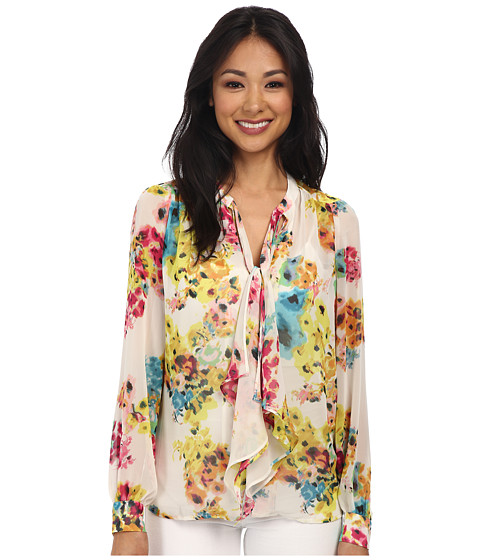 KUT from the Kloth - Spencer Button Up (Pink/Yellow) Women