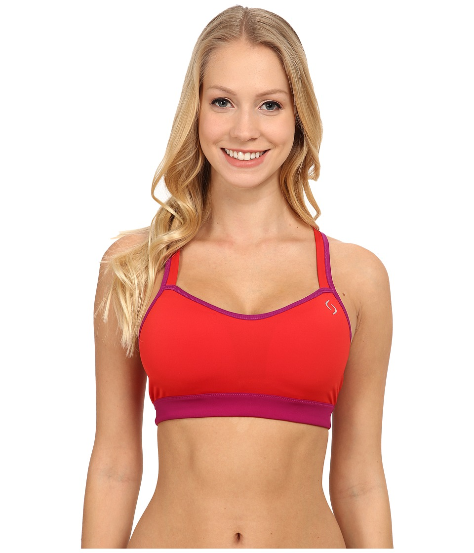 Moving Comfort - UpRise Crossback A/B (Ember/Currant) Women's Bra