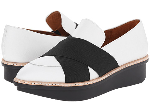 10 Crosby Derek Lam - Greer (White/Black) Women's Shoes