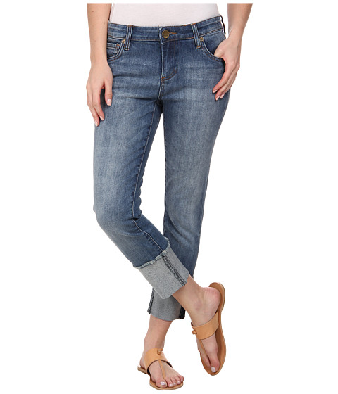 KUT from the Kloth - Wide Cuff Boyfriend in Fervent with Antique Base Wash (Antique Base Wash) Women