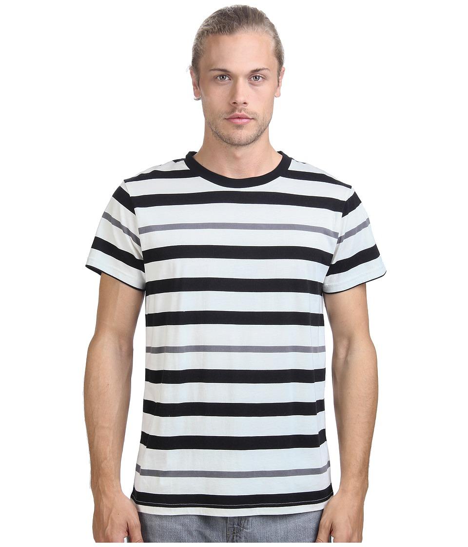 Alternative Cotton Modal Stripe Crew Black Mens T Shirt