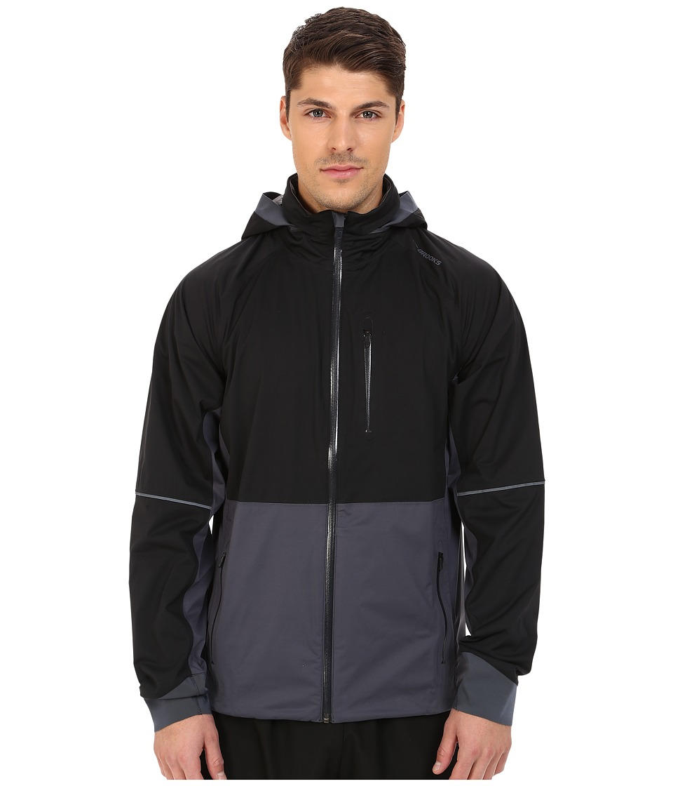 Brooks - Seattle Shell (Black/Asphalt) Men's Coat
