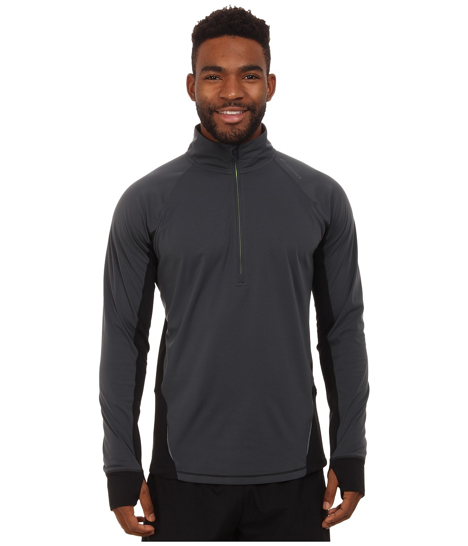 Brooks - Drift 1/2 Zip (Asphalt) Men's Long Sleeve Pullover