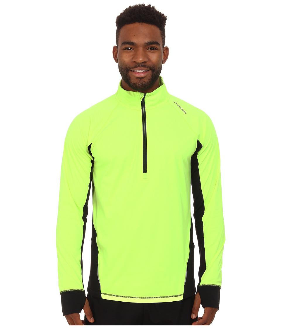 Brooks - Drift 1/2 Zip (Nightlife/Black) Men's Long Sleeve Pullover