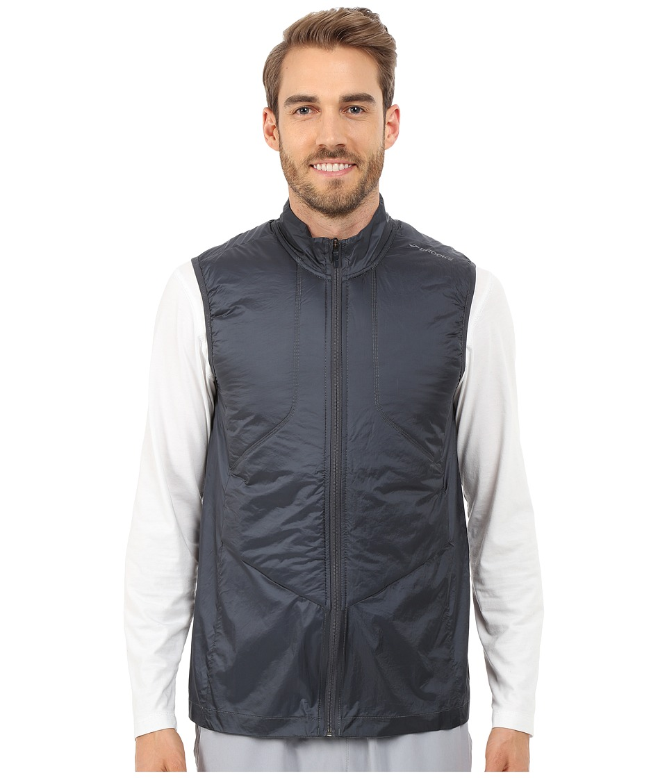 Brooks - LSD Thermal Vest (Asphalt) Men's Vest