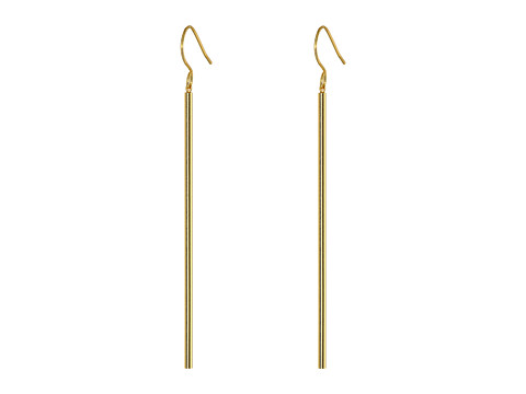 gorjana - Bali Tube Drop Earrings (Gold) Earring