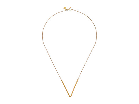gorjana - Bali Tube Small V Necklace (Gold) Necklace