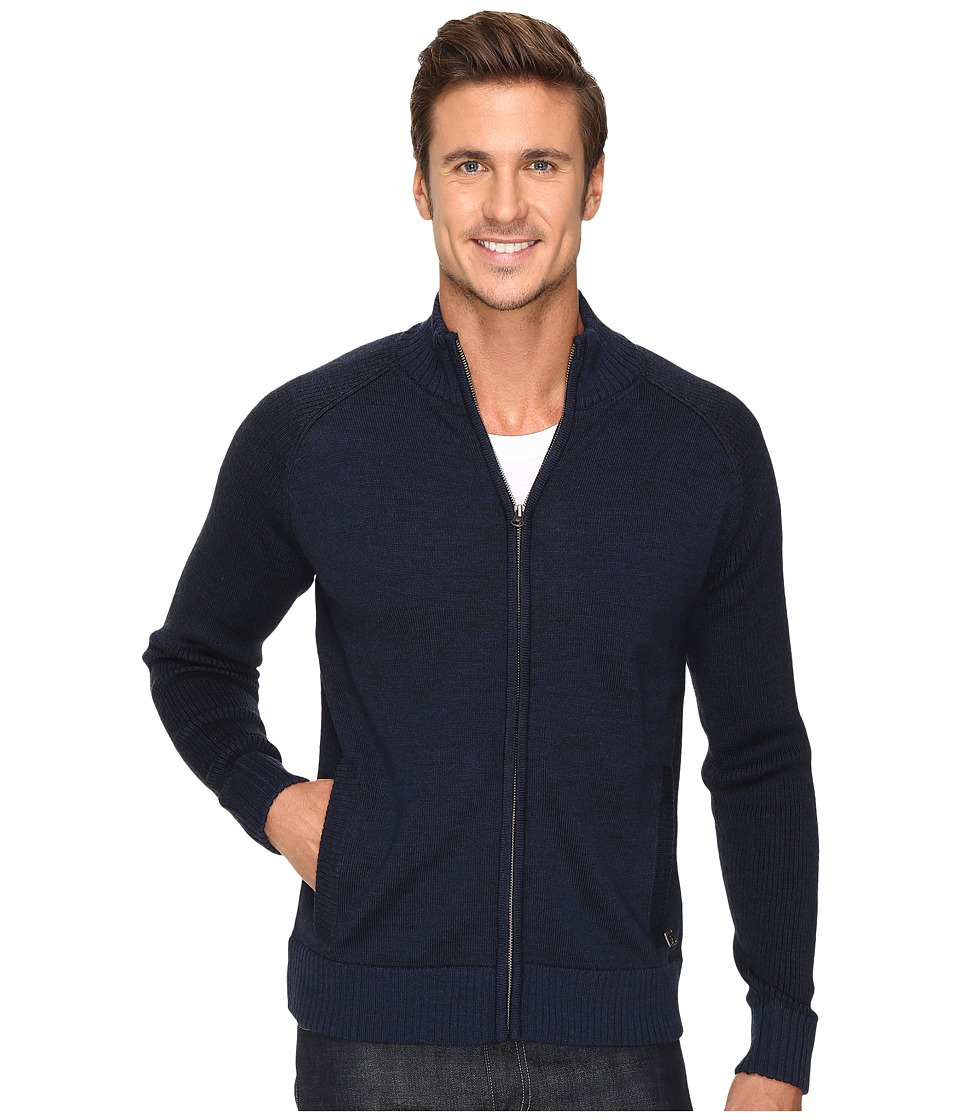Smartwool Pioneer Ridge Full Zip Top (Deep Navy Heather) Men