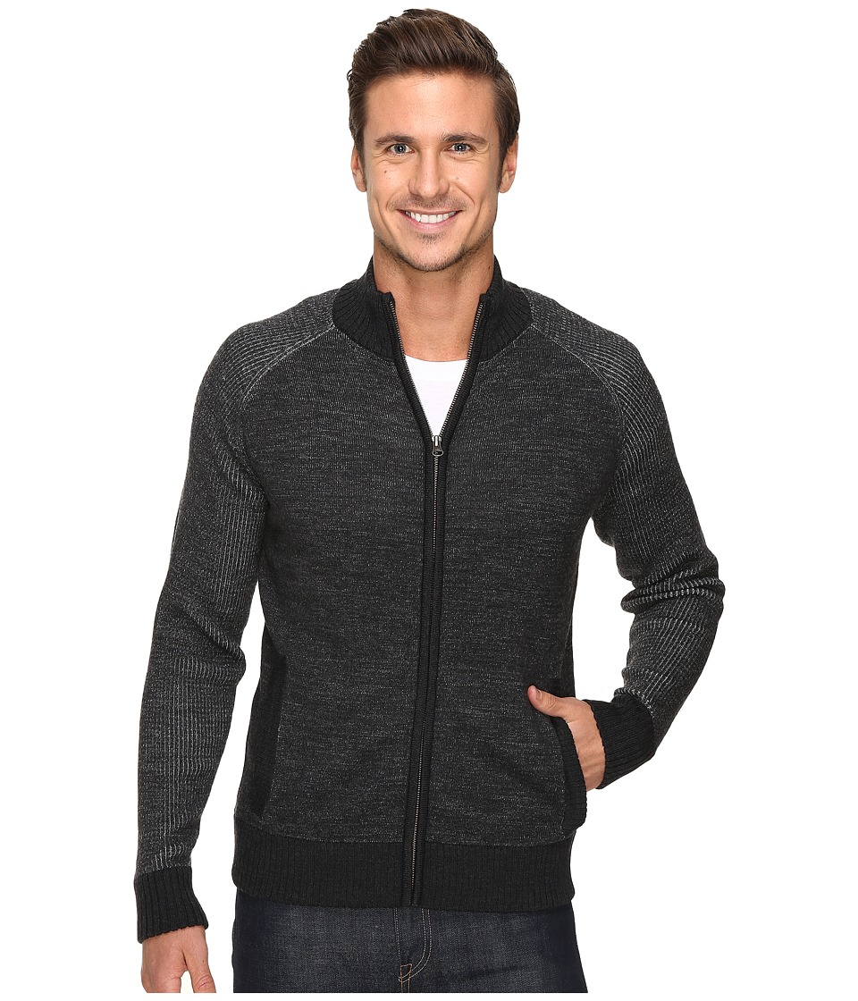 Smartwool - Pioneer Ridge Full Zip Top (Charcoal Heather) Men's Sweater