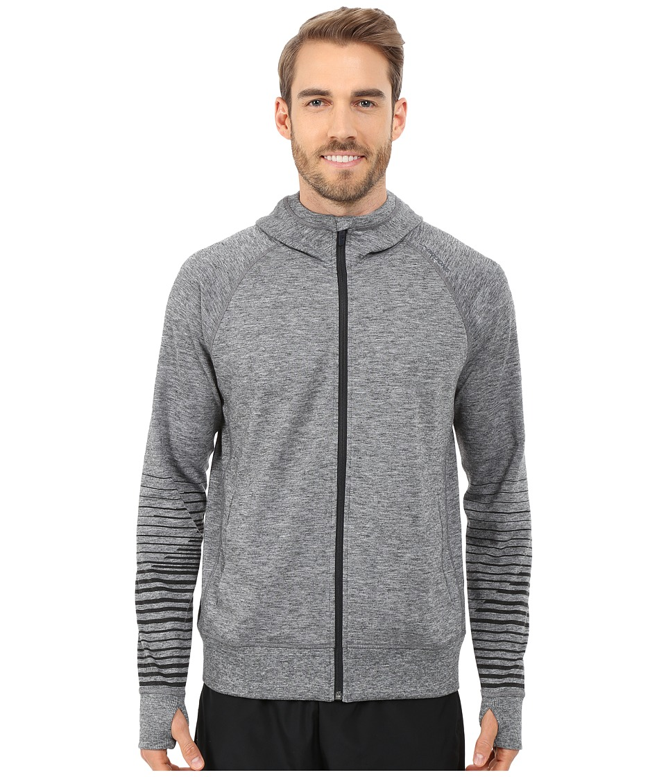 Brooks - Joyride Hoodie (Heather Black/Asphalt) Men