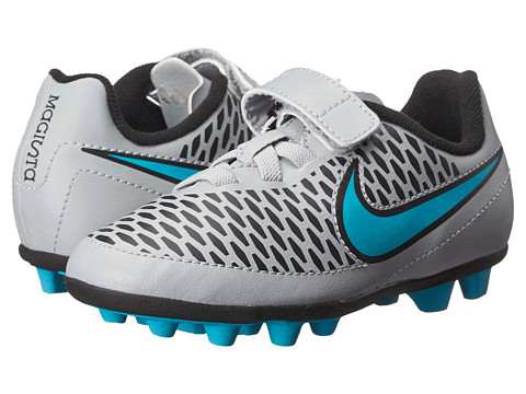 Nike Kids - Jr Magista Ola (V) FG-R (Toddler/Little Kid) (Wolf Grey/Black/Turquoise Blue) Kids Shoes