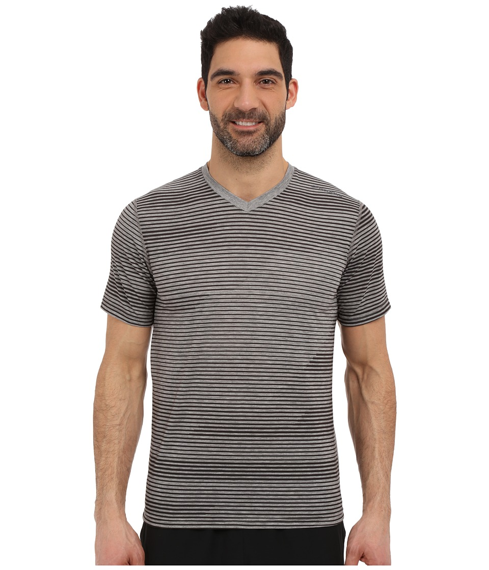 Brooks - Fly-By Short Sleeve Top (Heather Oxford Lightspeed) Men's Short Sleeve Pullover