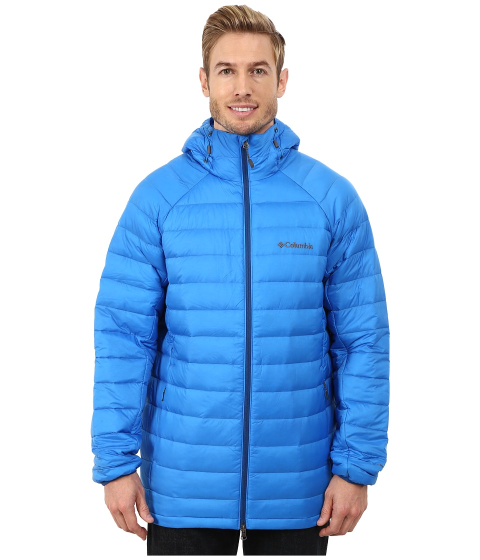 Columbia - Platinum Plus 860 TurboDown Hooded Jacket (Hyper Blue/Marine Blue) Men's Coat