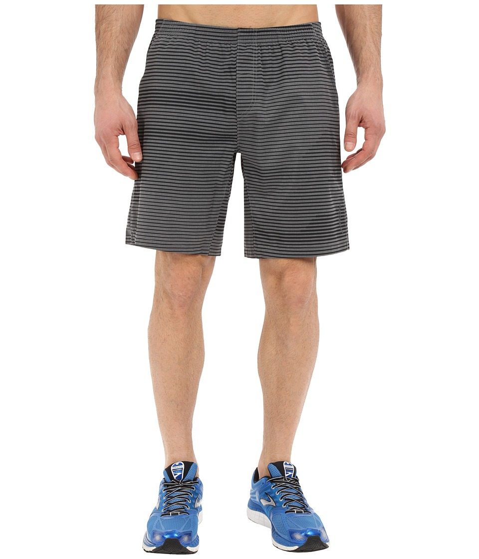 Brooks - Rush 9 Shorts (Heather Oxford Lightspeed) Men
