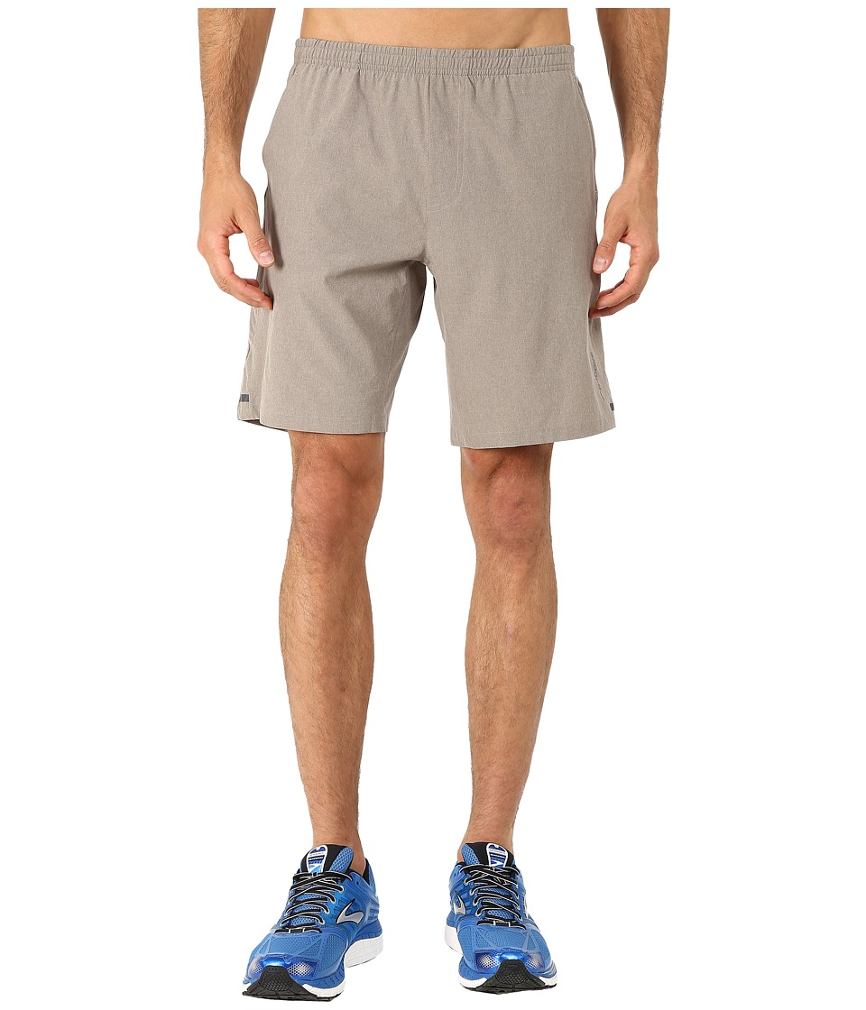Brooks Rush 9 Shorts (Heather Carb) Men