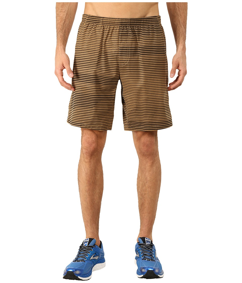 Brooks Rush 9 Shorts (Heather Ale Lightspeed) Men