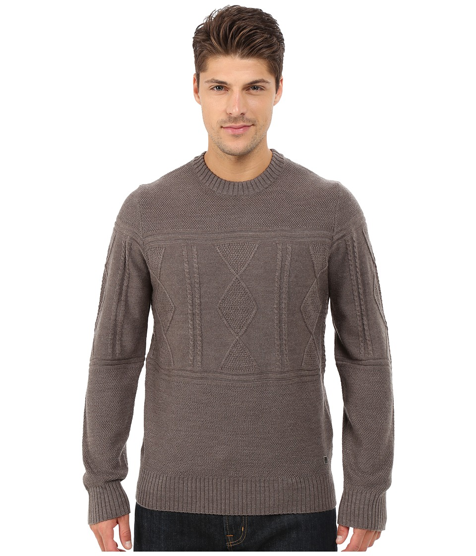 Smartwool - Cheyenne Creek Cable Sweater (Taupe Heather) Men's Long Sleeve Pullover