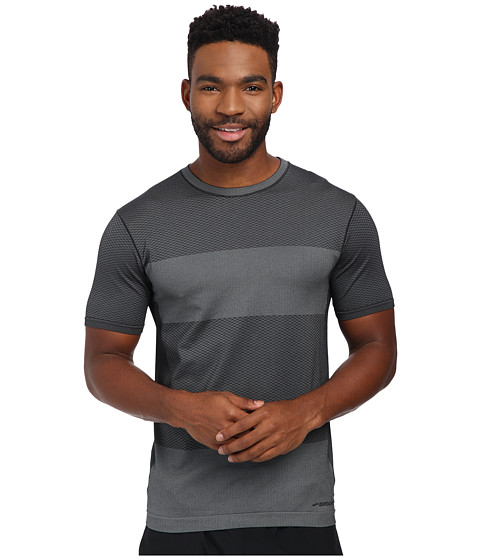 Brooks - Streaker Short Sleeve Top (Heather Black) Men