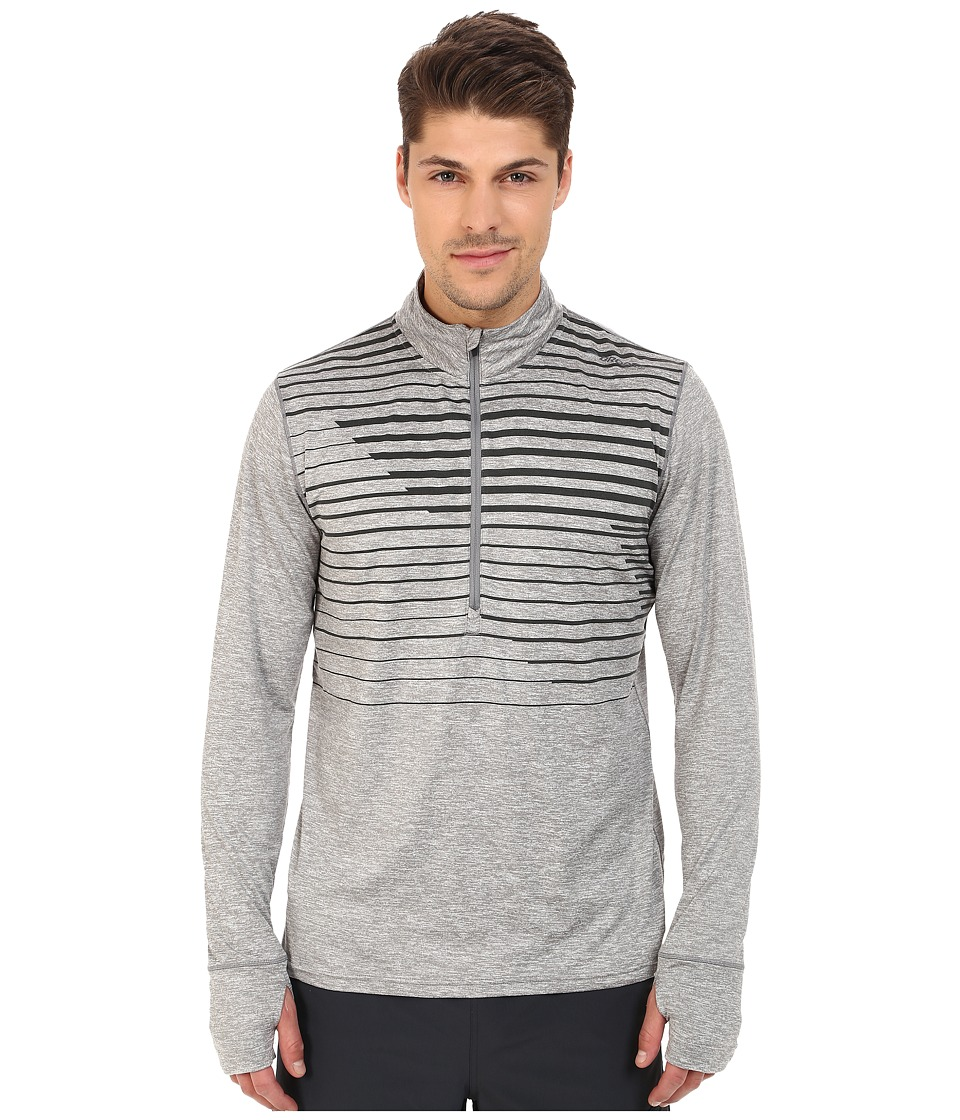 Brooks - Dash 1/2 Zip (Heather Oxford Macro) Men