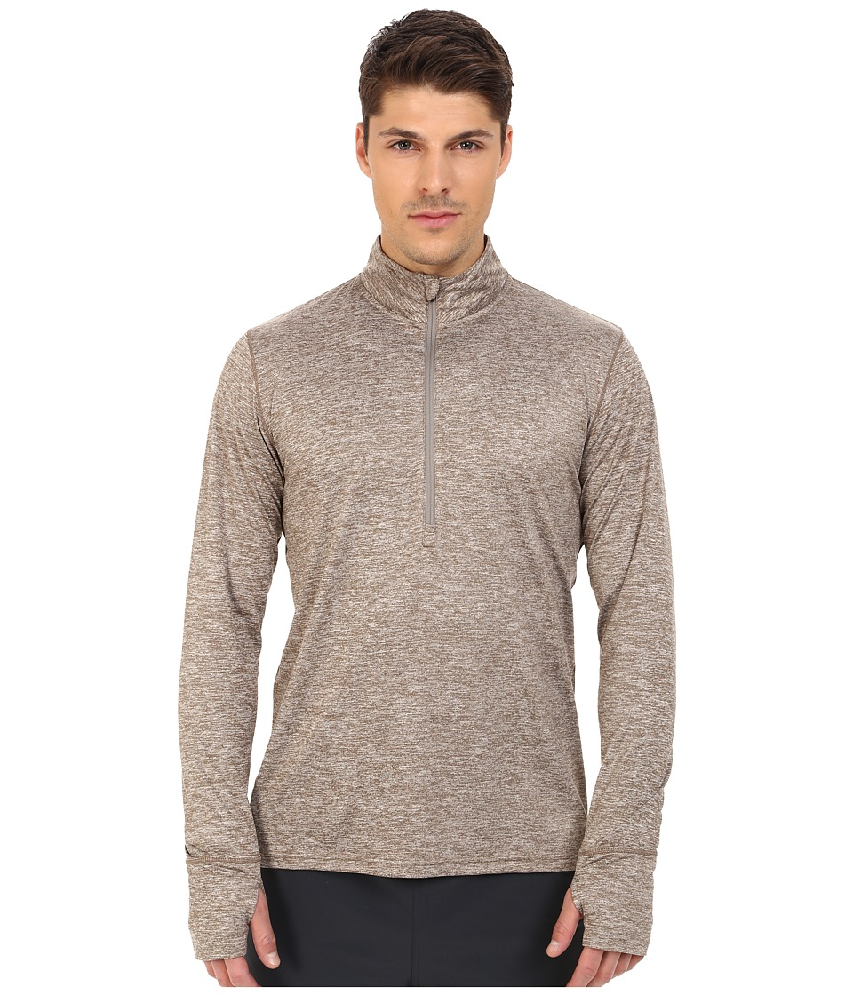 Brooks - Dash 1/2 Zip (Heather Carb) Men's Long Sleeve Pullover