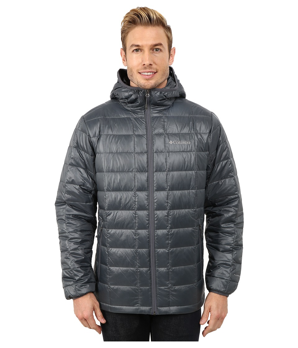 Columbia - Trask Mountain 650 TurboDown Hooded Jacket (Graphite) Men's Coat
