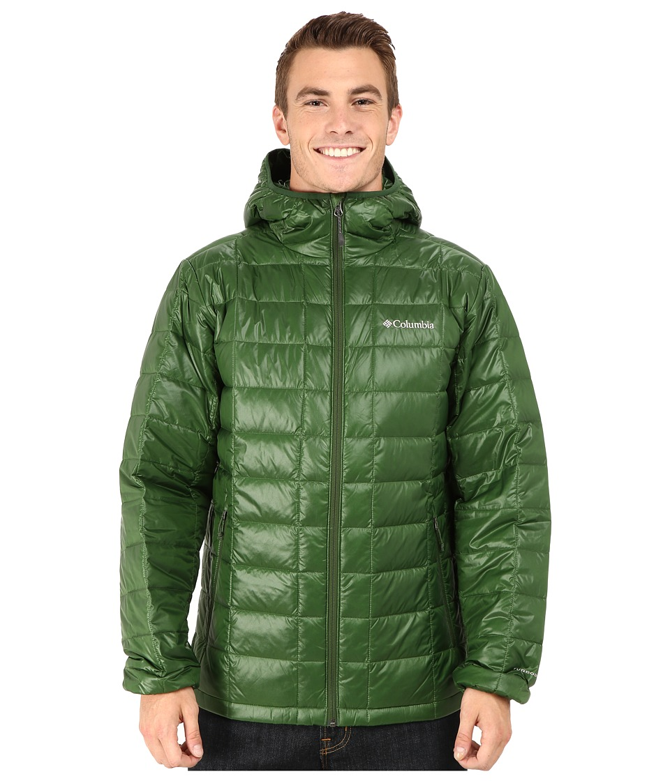 Columbia - Trask Mountain 650 TurboDown Hooded Jacket (Woodland) Men's Coat