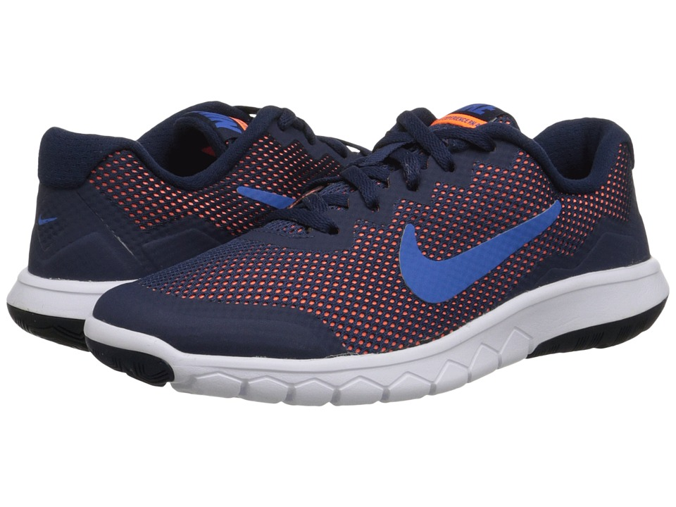 Nike Kids - Flex Experience 4 (Big Kid) (Midnight Navy/Dark Obsidian/Total Orange/Soar) Boys Shoes
