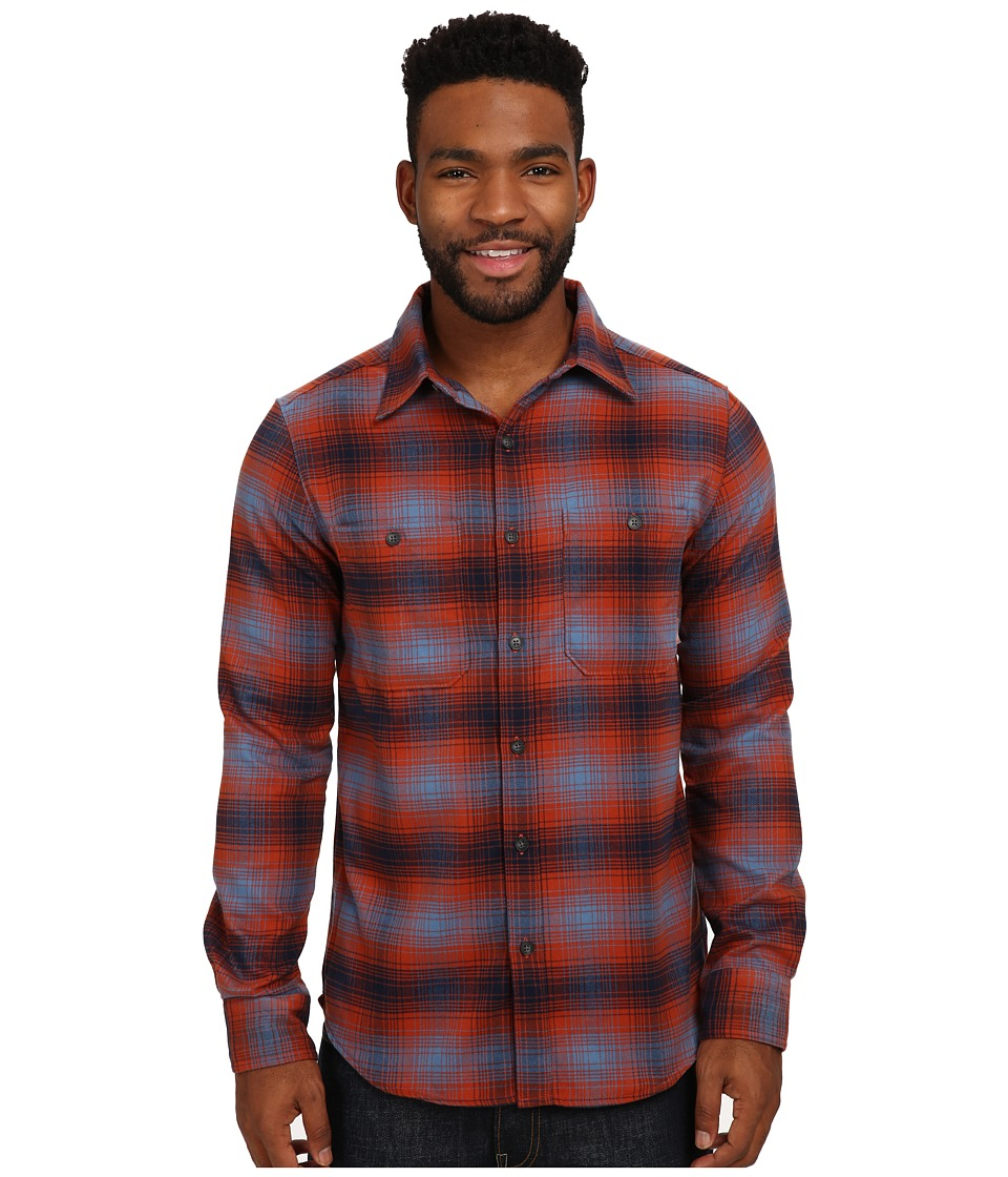 Merrell - Subpolar Flannel (Dark Rust) Men's Long Sleeve Button Up