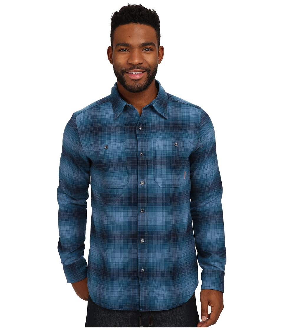 Merrell - Subpolar Flannel (Legion Blue) Men's Long Sleeve Button Up