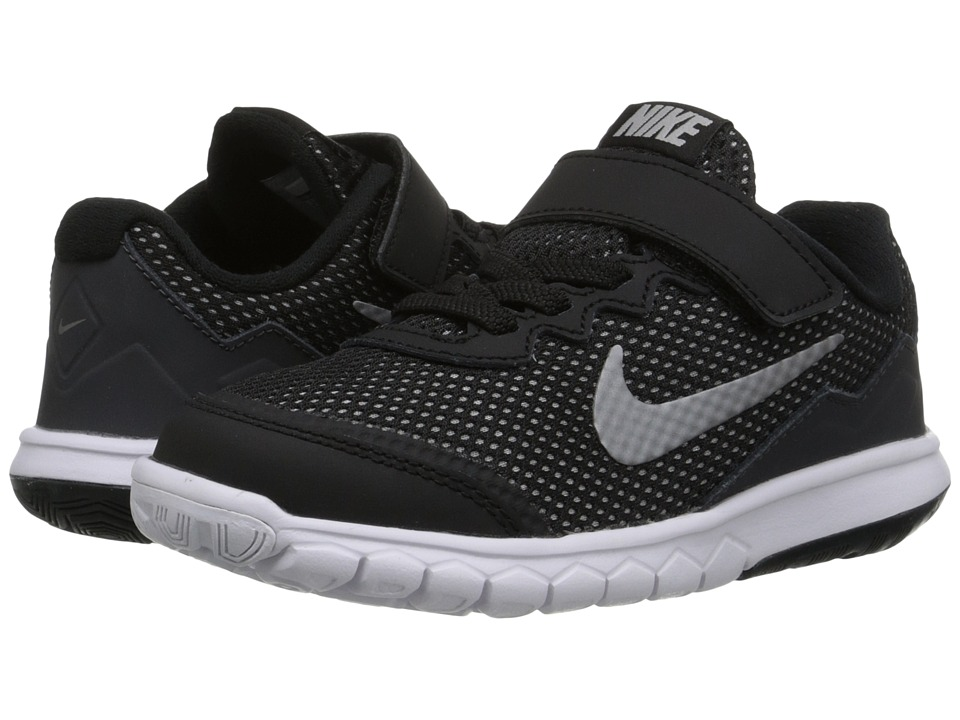 Nike Kids - Flex Experience 4 (Little Kid) (Black/Anthracite/White/Metallic Dark Grey) Boys Shoes