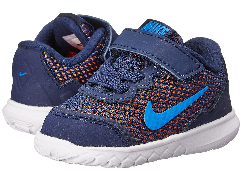 Nike Kids - Flex Experience 4 (Infant/Toddler) (Midnight Navy/Dark Obsidian/Total Orane) Boys Shoes