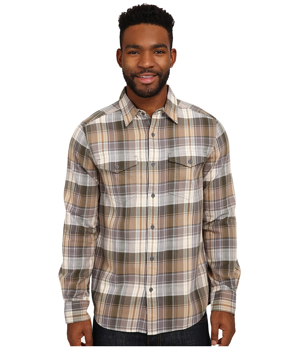Merrell - Excurse Flannel (Manganese) Men's Long Sleeve Button Up