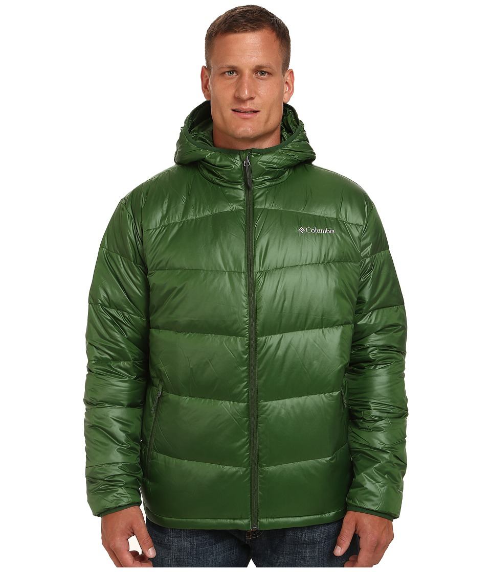 Columbia - Gold 650 TurboDown Hooded Down Jacket - Extended (Woodland) Men's Jacket