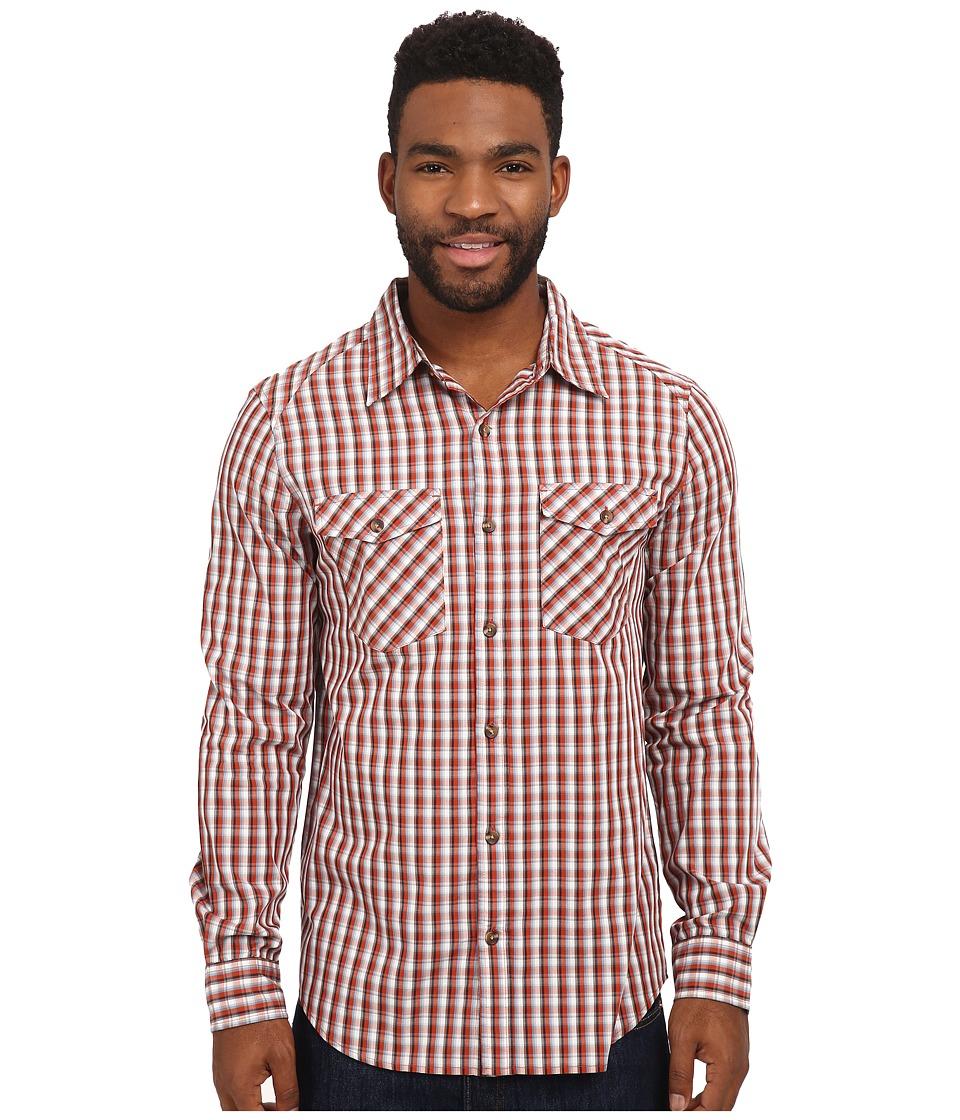 Merrell - Sawyer L/S (Dark Rust) Men's Long Sleeve Button Up