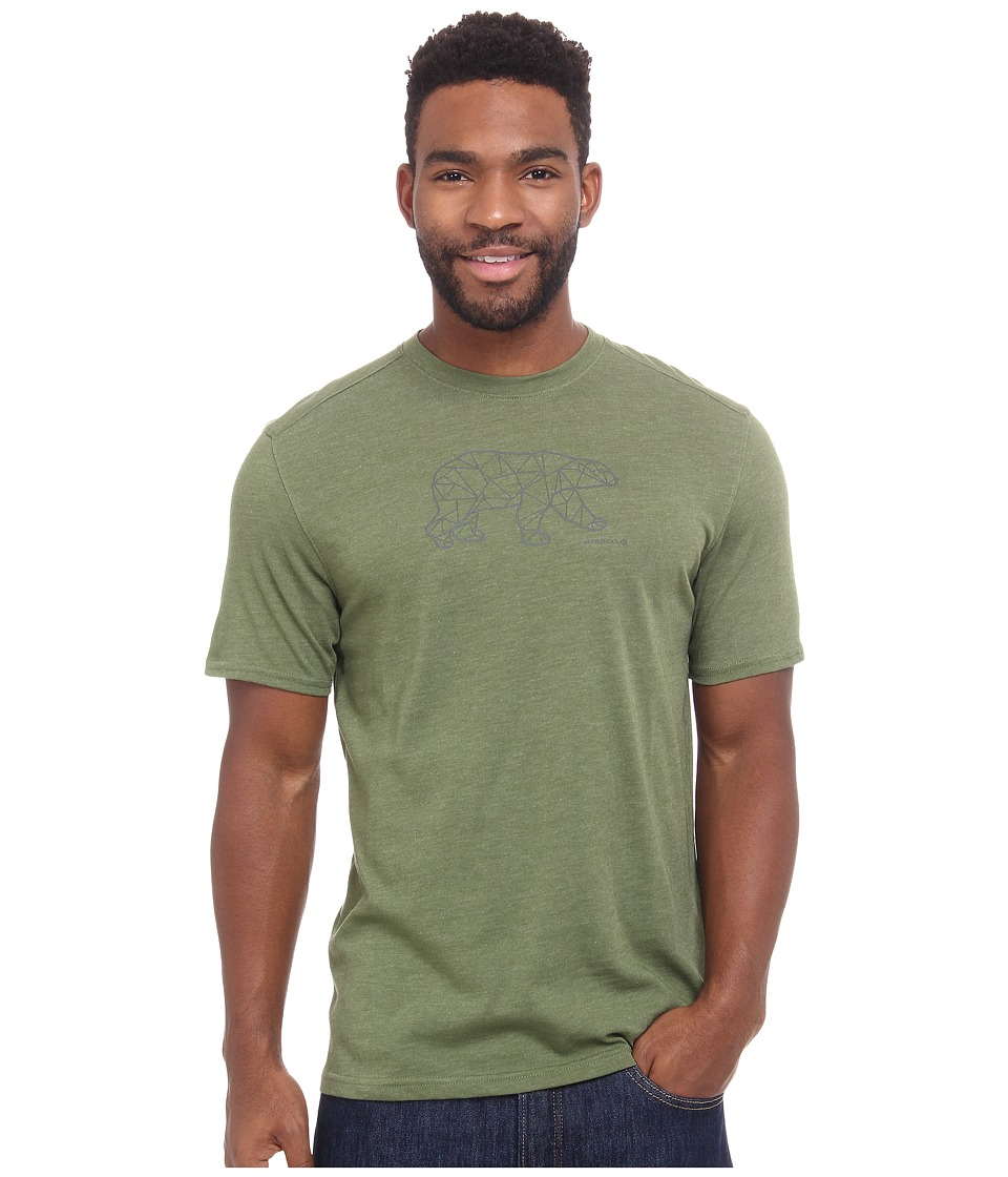 Merrell - Polar Bear Graphic Tee (Chive Heather) Men