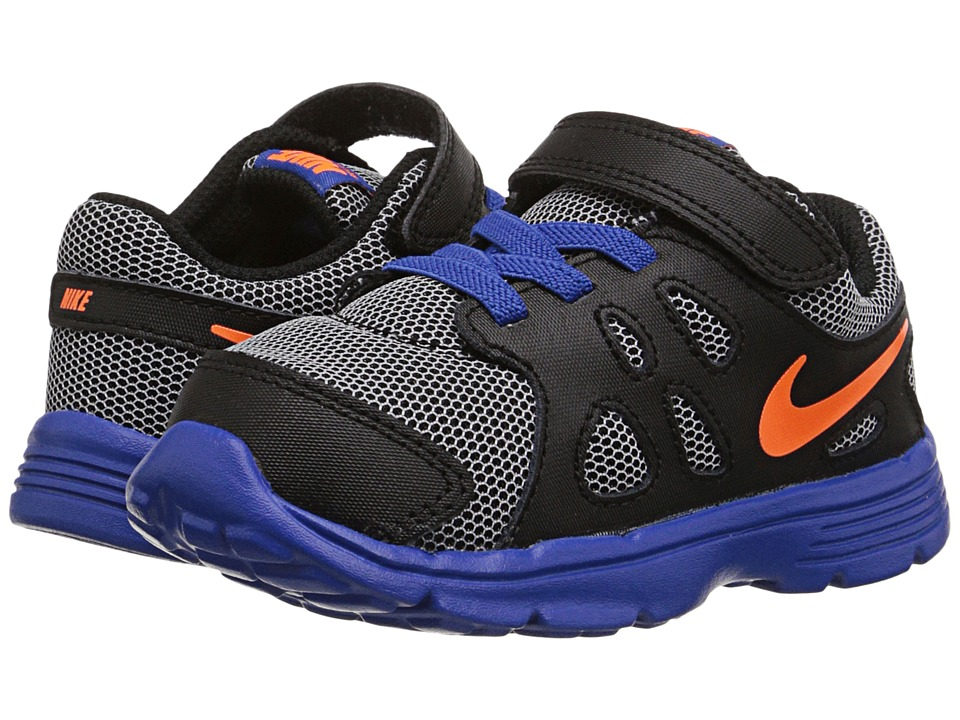 Nike Kids - Revolution 2 (Infant/Toddler) (White/Game Royal/Black/Total Orange) Boys Shoes