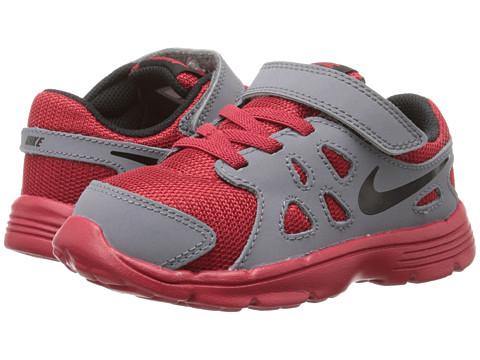 Nike Kids - Revolution 2 (Infant/Toddler) (Gym Red/Cool Grey/White/Black) Boys Shoes