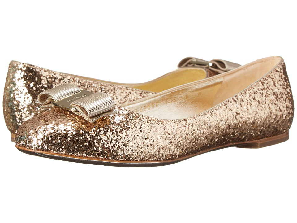 Salvatore Ferragamo - Varina G. (Oro) Women's Dress Flat Shoes