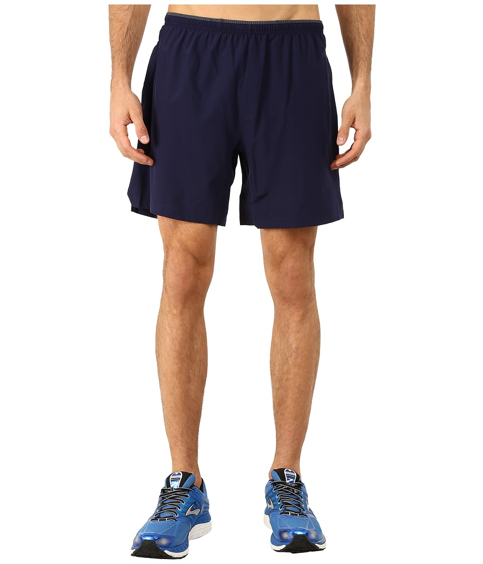 Brooks - Sherpa 7 2-in-1 Shorts (Navy) Men's Shorts