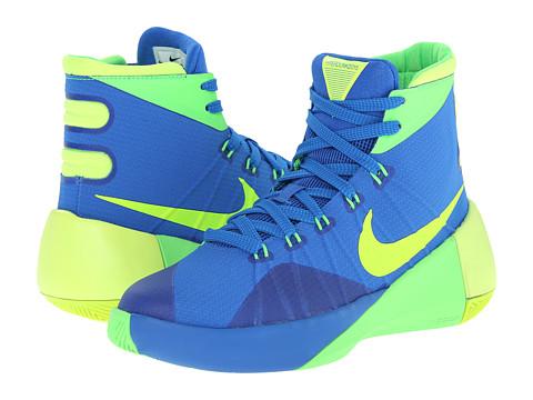 Nike Kids - Hyperdunk 2015 (Big Kid) (Soar/Green Strike/Volt) Boys Shoes