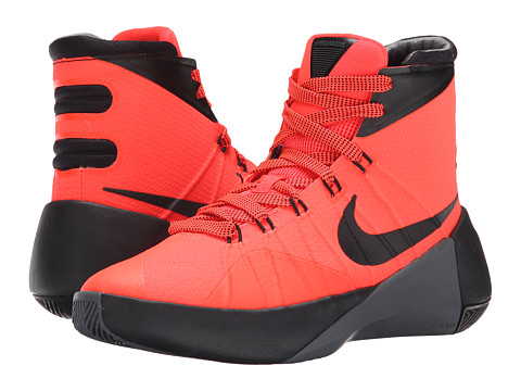 Nike Kids - Hyperdunk 2015 (Big Kid) (Bright Crimson/Dark Grey/Black) Boys Shoes